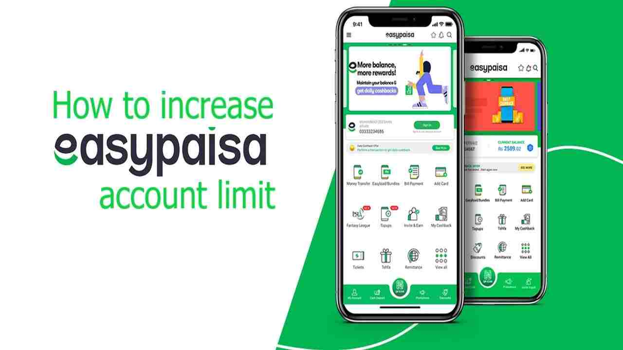 How to increase Easypaisa account limit (100% Working Methods)