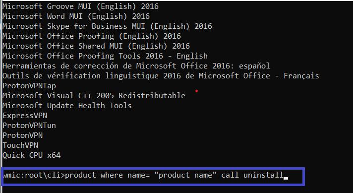 How To Uninstall Program Using CMD